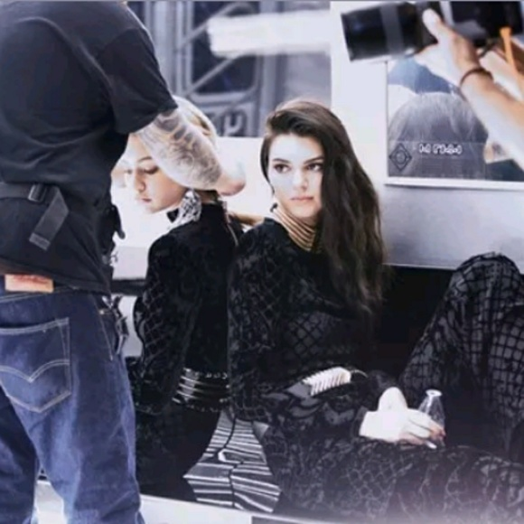 8ee603aa Balmain Tops | Kendall Jenner X Hm Catwalk Velvet Top | Poshmark